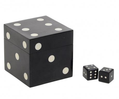 Sada krabice s 5 kostkami Luck Black
