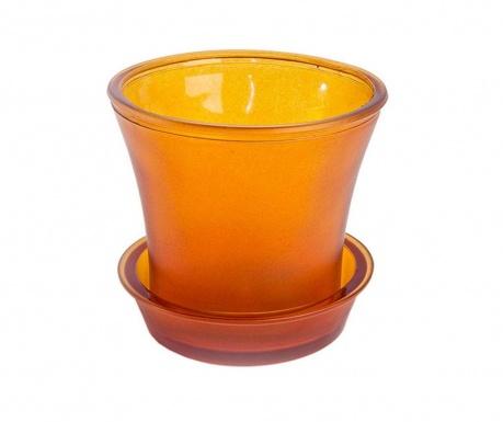 Ginerva Matte Orange Virágcserép alátéttel