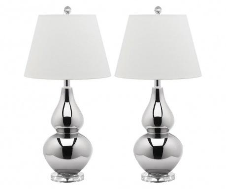 Sada 2 lampy Hattie Silver