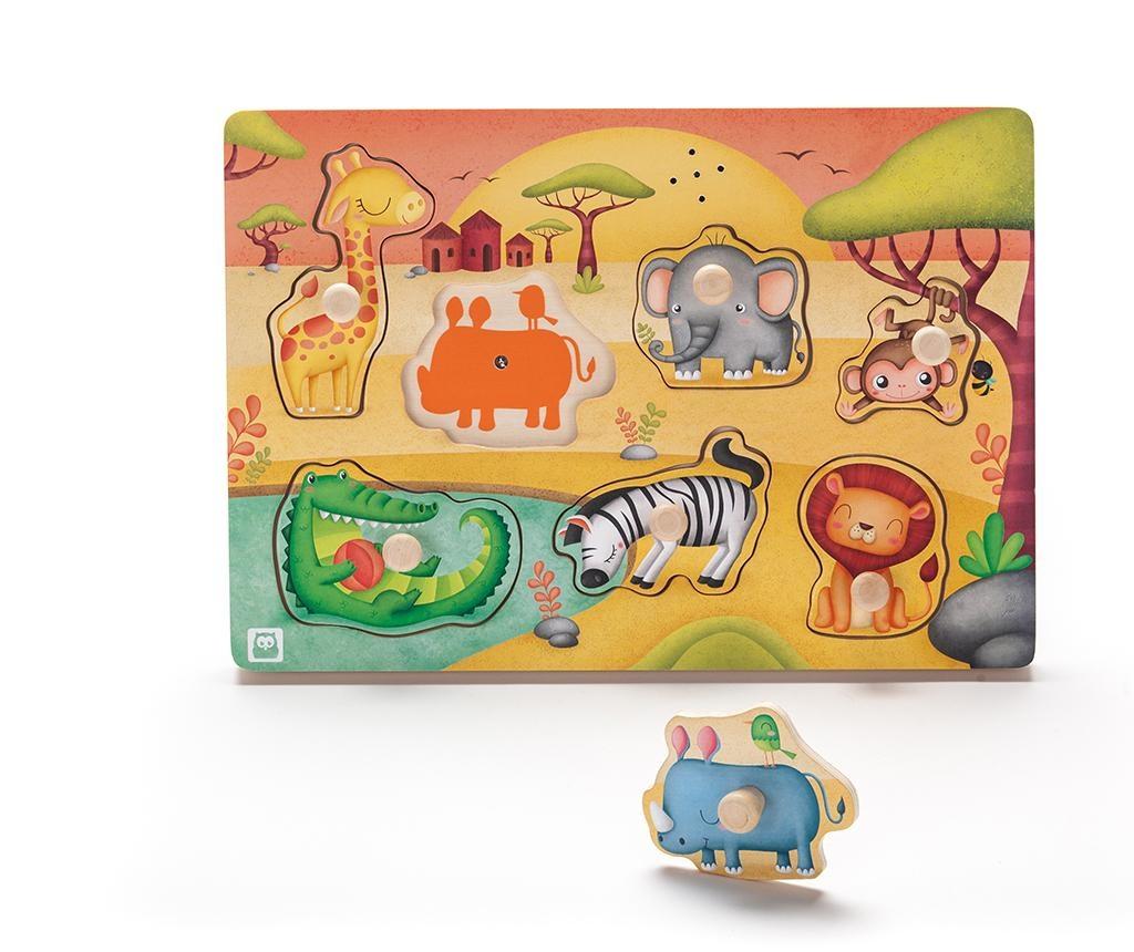 Joc muzical tip puzzle Savannah Animals