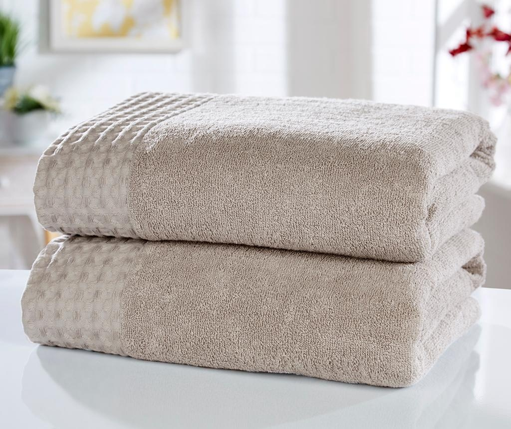 Set 2 kupaonska ručnika Retreat Latte 90x140 cm