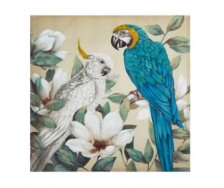 Tablou Parrots 100x100 cm