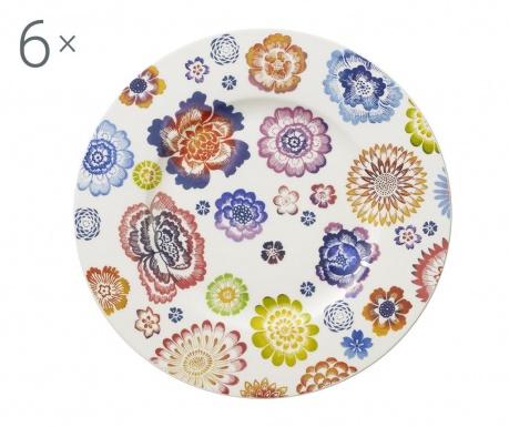 Сервиз 6 десертни чинии Anmut Bloom