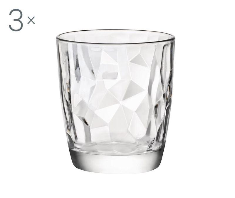 Set 3 kozarcev Diamond Clear 300 ml