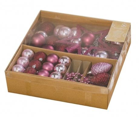Διακοσμητικά για χριστουγεννιατικό δέντρο 50 τεμάχια Pink Christmas