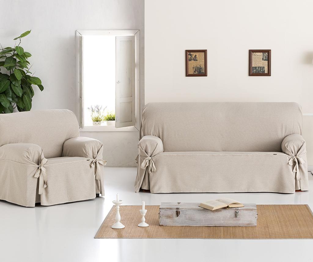Регулируем калъф за канапе Constanza Linen Bows 170-200 см