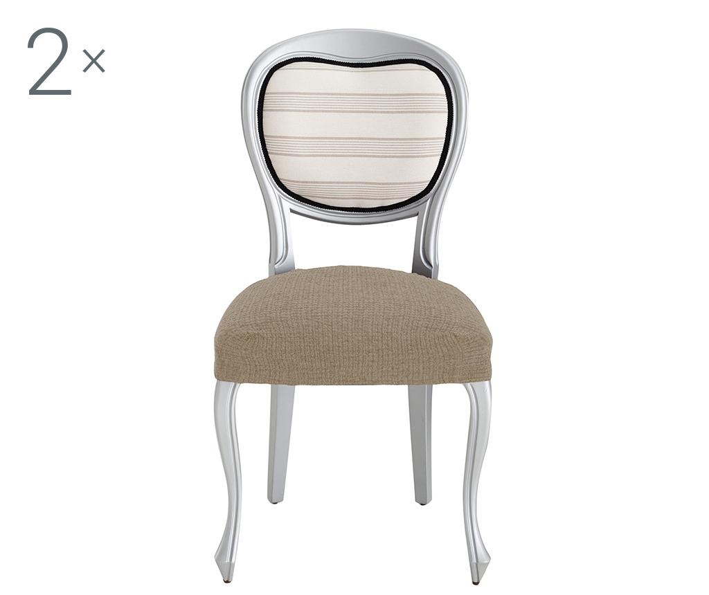 Dorian Tan Backless 2 db Elasztikus huzat székre