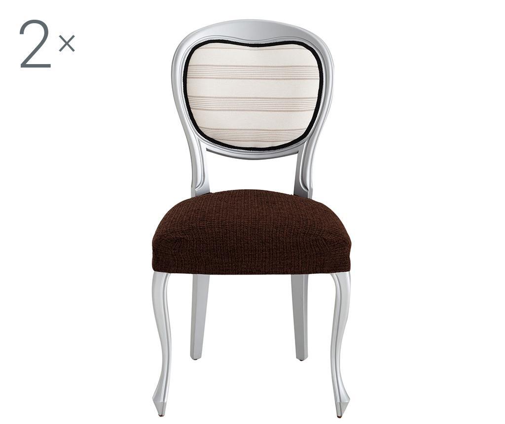 Dorian Brown Backless 2 db Elasztikus huzat székre