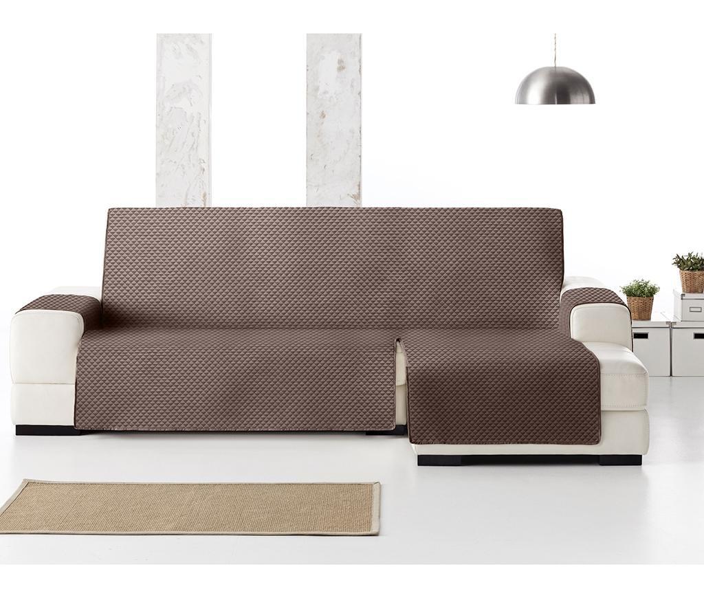 Ватиран калъф за десен ъглов диван Oslo Brown 240 см