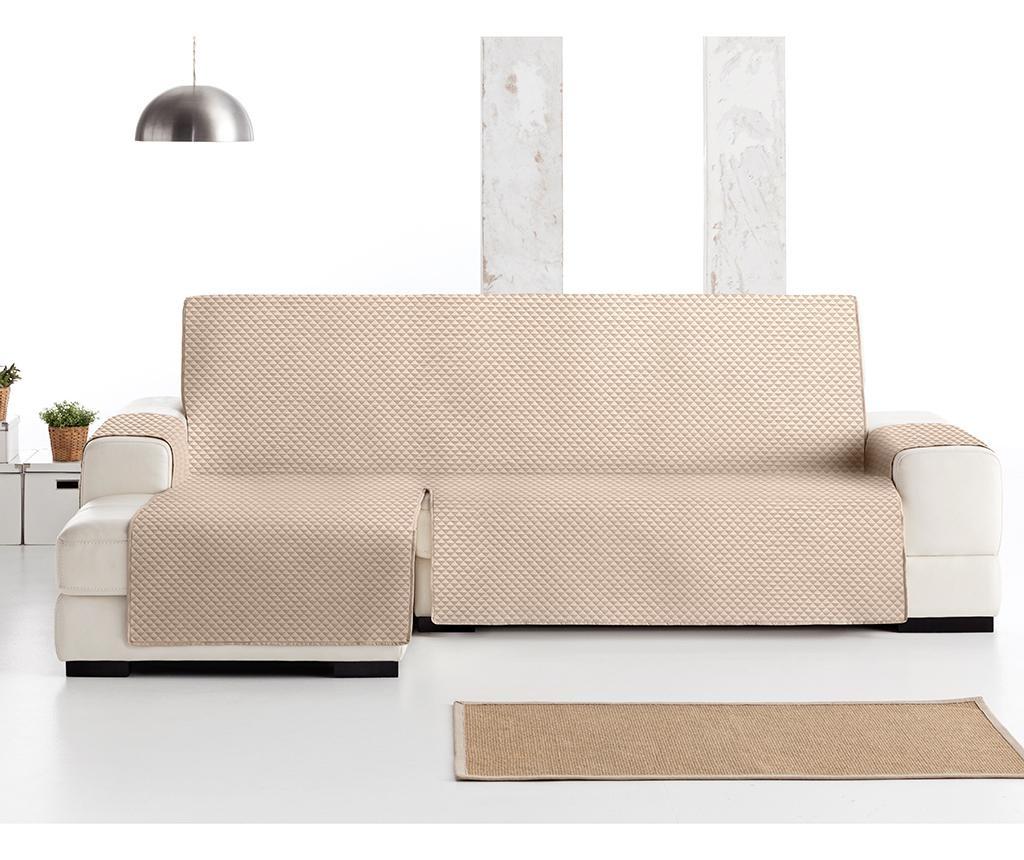 Husa matlasata pentru coltar stanga Oslo Beige 290 cm