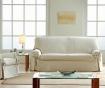 Podesiva navlaka za kauč Paola Ecru Bows 180-220 cm