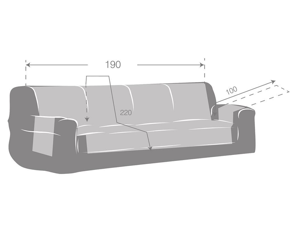 Oslo Reverse Brown & Tan Steppelt huzat kanapéra 190 cm