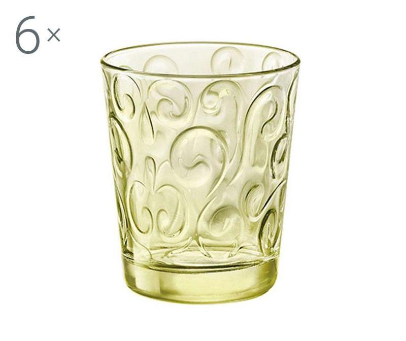 Set 6 čaša Naos Candy Green 290 ml