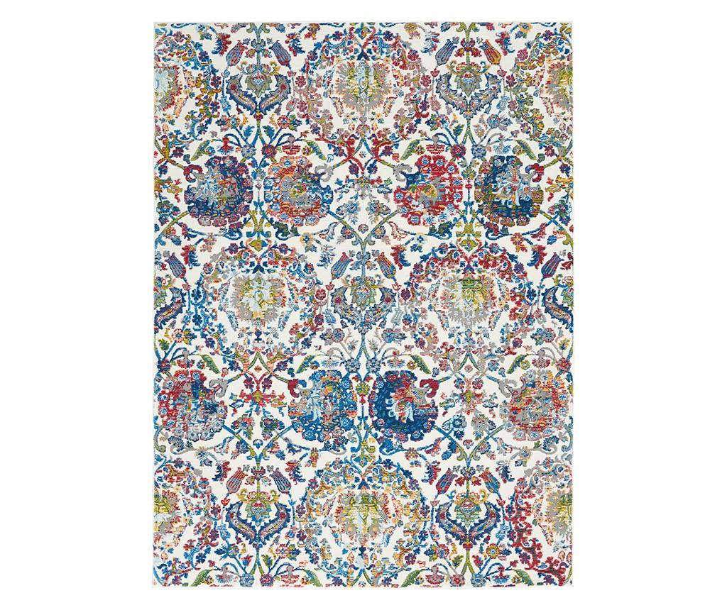 Covor Flowers 160x229 cm - Nourison, Albastru