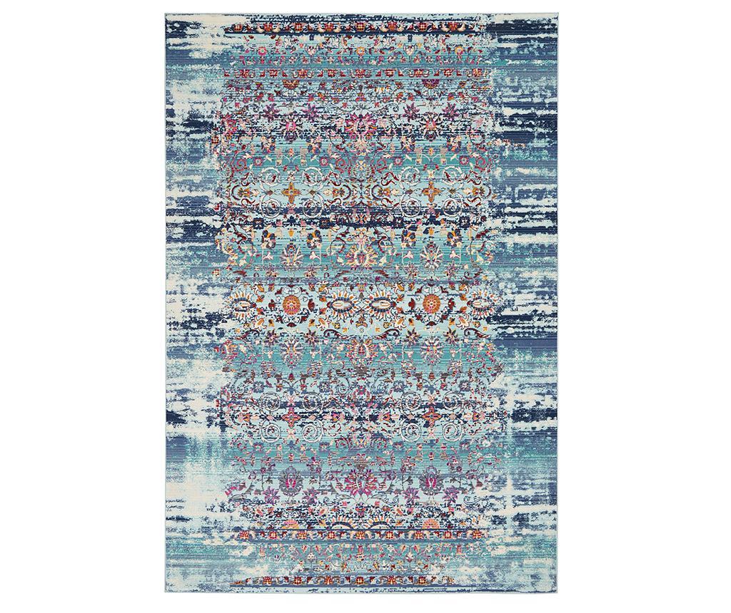 Covor Flower River Blue 122x183 cm - Nourison, Albastru