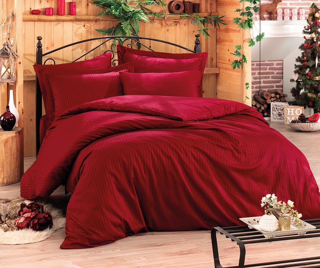 Cotton Box Lenjerie Pat King Satin Stripe Claret Red Two