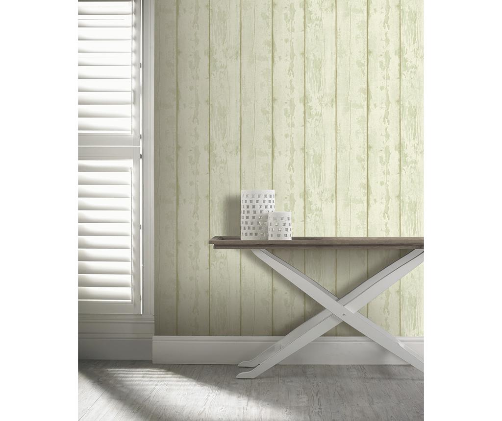 Tapet Washed Wood Cream Green 53x1005 cm - Arthouse, Verde