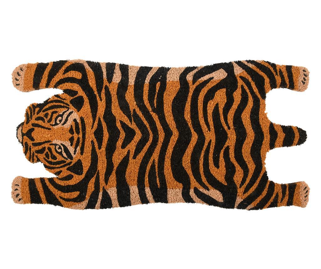 Covoras de intrare Tiger 37.5x74.5 cm - Esschert Design, Negru,Portocaliu