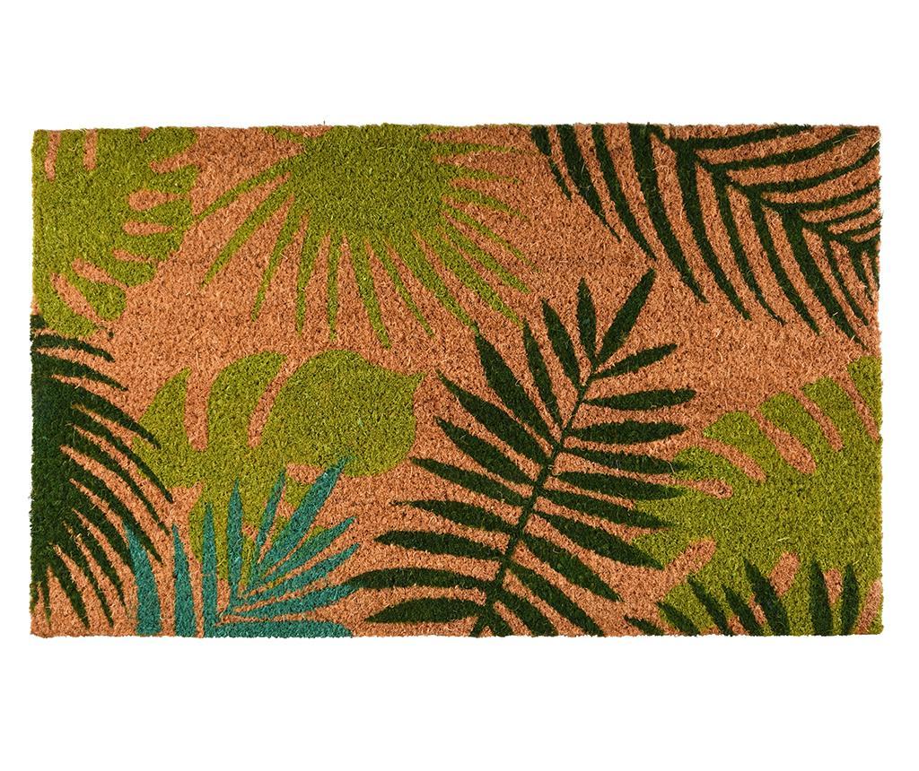 Covoras de intrare Tropical Leaves 45x75 cm - Esschert Design, Maro,Verde