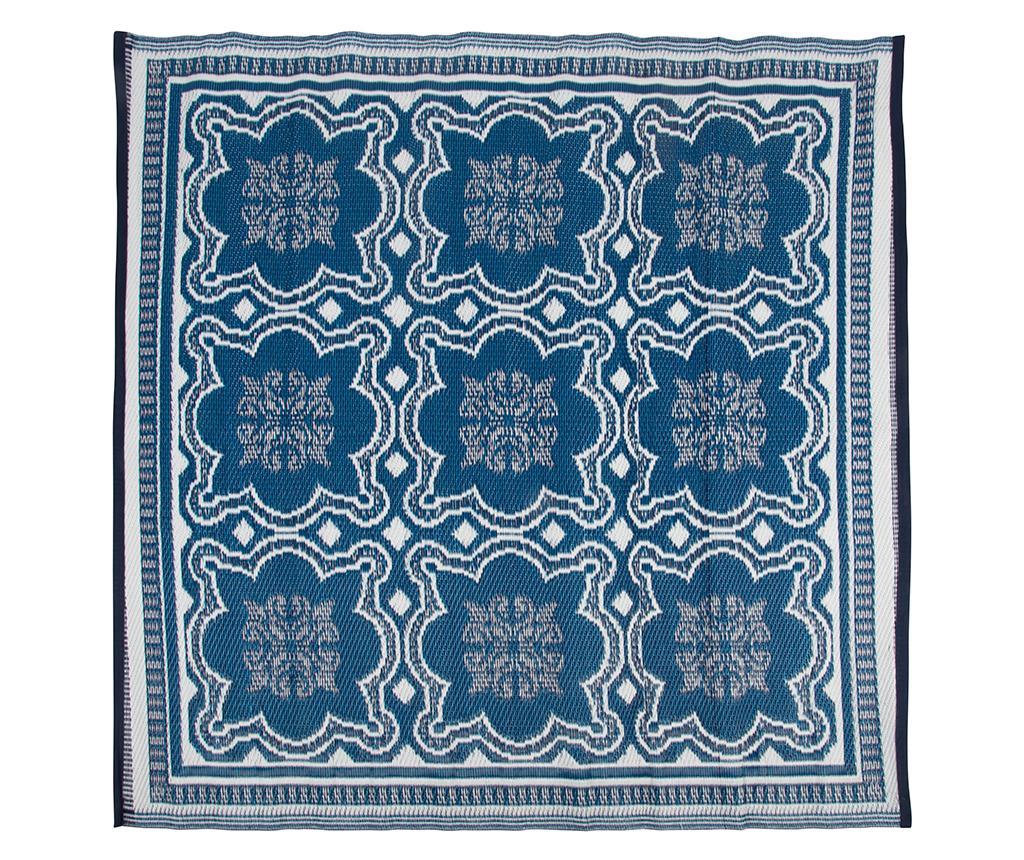 Covor de exterior Bella 151.5x151.5 cm - Esschert Design, Albastru
