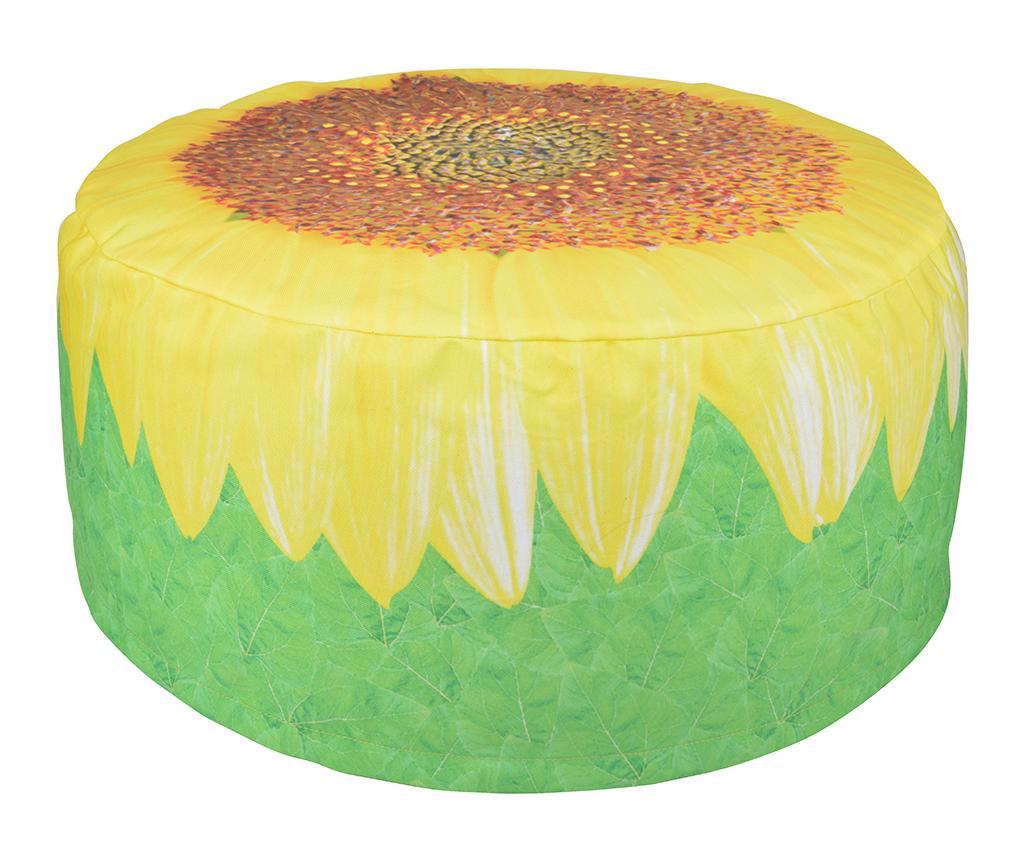 Puf gonflabil Sunflower - Esschert Design, Galben & Auriu,Verde