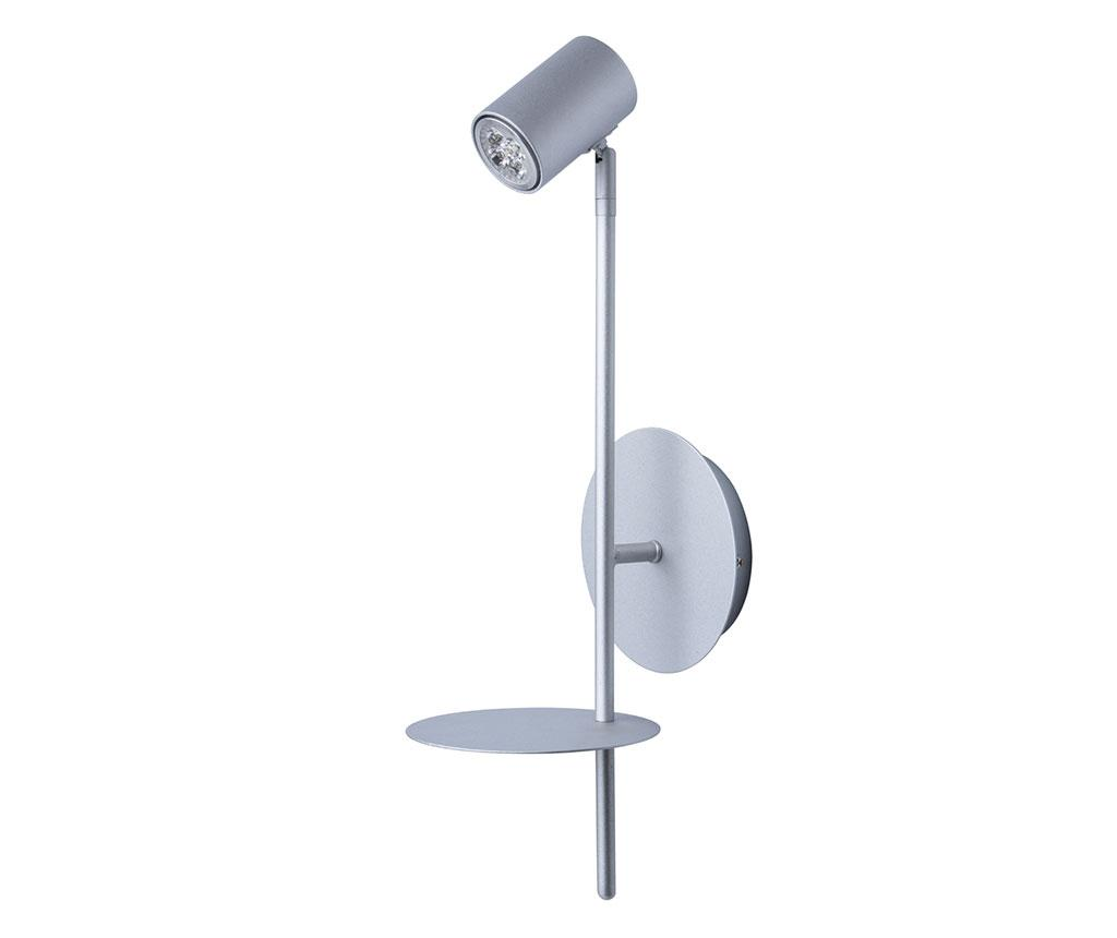 Aplica de perete Plattling - Functional Lighting, Gri & Argintiu