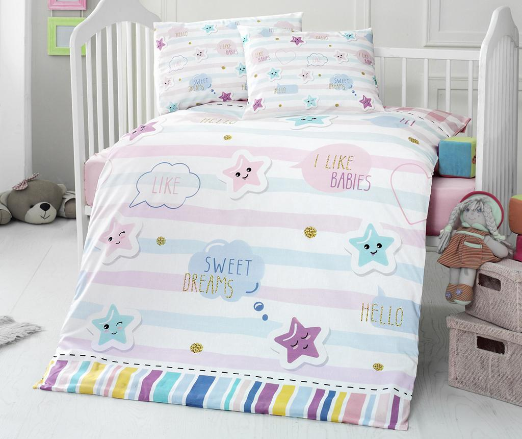 Lenjerie de patut Ranforce Supreme Dream 100x150 - Patik, Multicolor