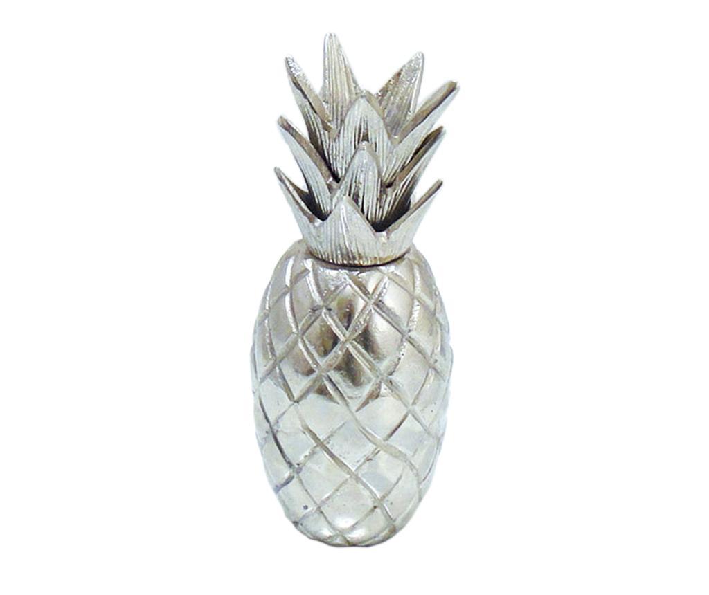 Decoratiune Caelan Pineapple Silver - Garpe Interiores, Gri & Argintiu