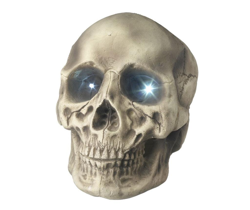 Decoratiune luminoasa Light Skull - Heaven Sends, Crem