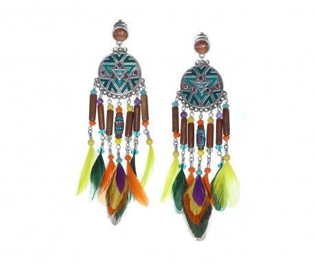 Kimya Feathers Long Fülbevaló
