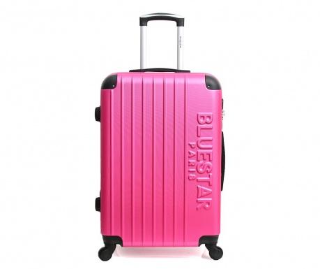 Bucharest Fuchsia Gurulós bőrönd