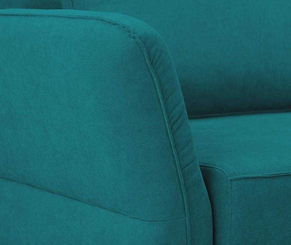 Разтегателно триместно канапе Casiopeia Turquoise