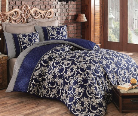 Posteljnina King Sateen Supreme Pera  Dark Blue
