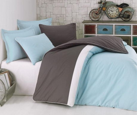 Спално бельо Single Ranforce Plain Sport  Mint
