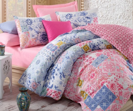 Спален комплект Double Ranforce Mosaic  Pink