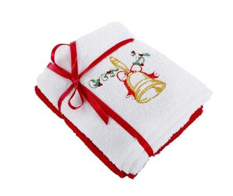 Zestaw 2 ręczników kąpielowych Bell White 50x90 cm