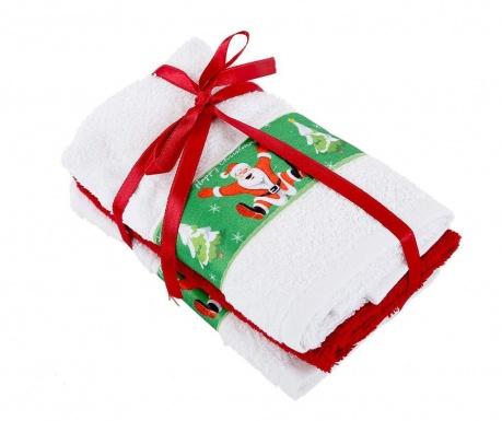 Zestaw 3 ręczników kąpielowych Jump White 30x50 cm