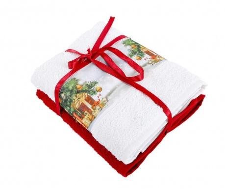 Set 2 kupaonska ručnika Warm 50x90 cm