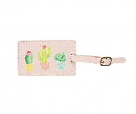 Oznaka za prtljago Pastel Cactus