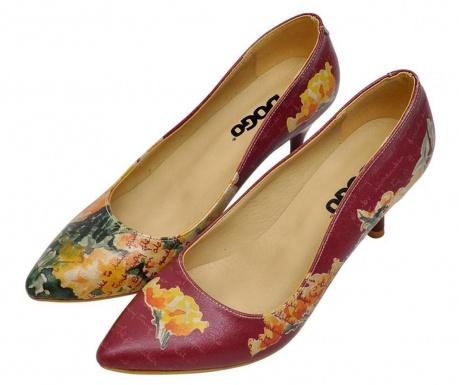 Pantofi dama Yellow Flower