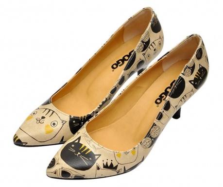 Pantofi dama Monochrome Cats