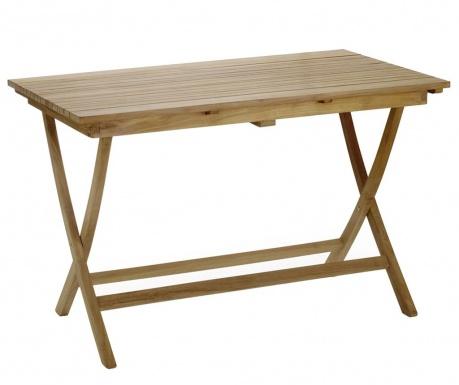 Irregular Slat Összecsukható kültéri asztal