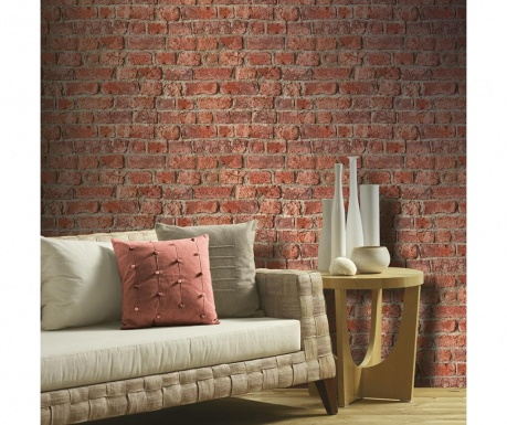 Tapeta Farm Brick Red 53x1005 cm