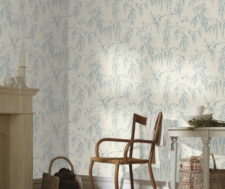 Tapeta Willow Tree Cream Teal 53x1005 cm