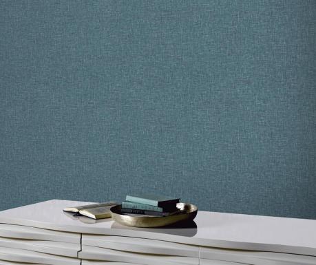 Stenska tapeta Linen Texture Teal 53x1005 cm
