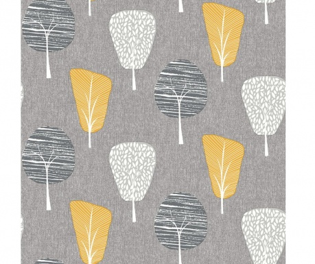 Tapeta Retro Tree Ochre 53x1005 cm