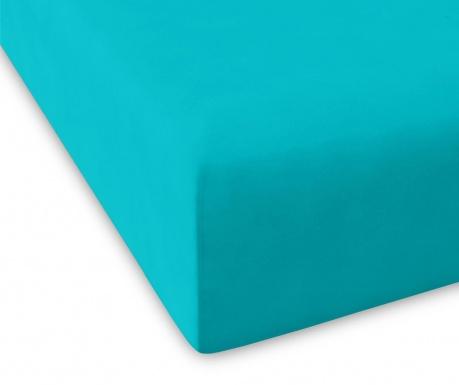 Долен чаршаф с ластик Casual Turquoise 100x200 см