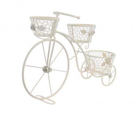Поставка за саксии Vintage Bike White