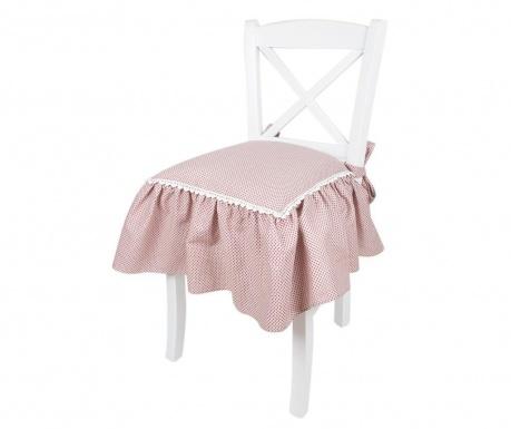 Poszewka na poduszkę na siedzisko Frills White 40x40 cm