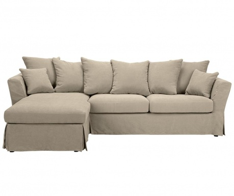 Разтегателен ляв ъглов диван Helene Beige